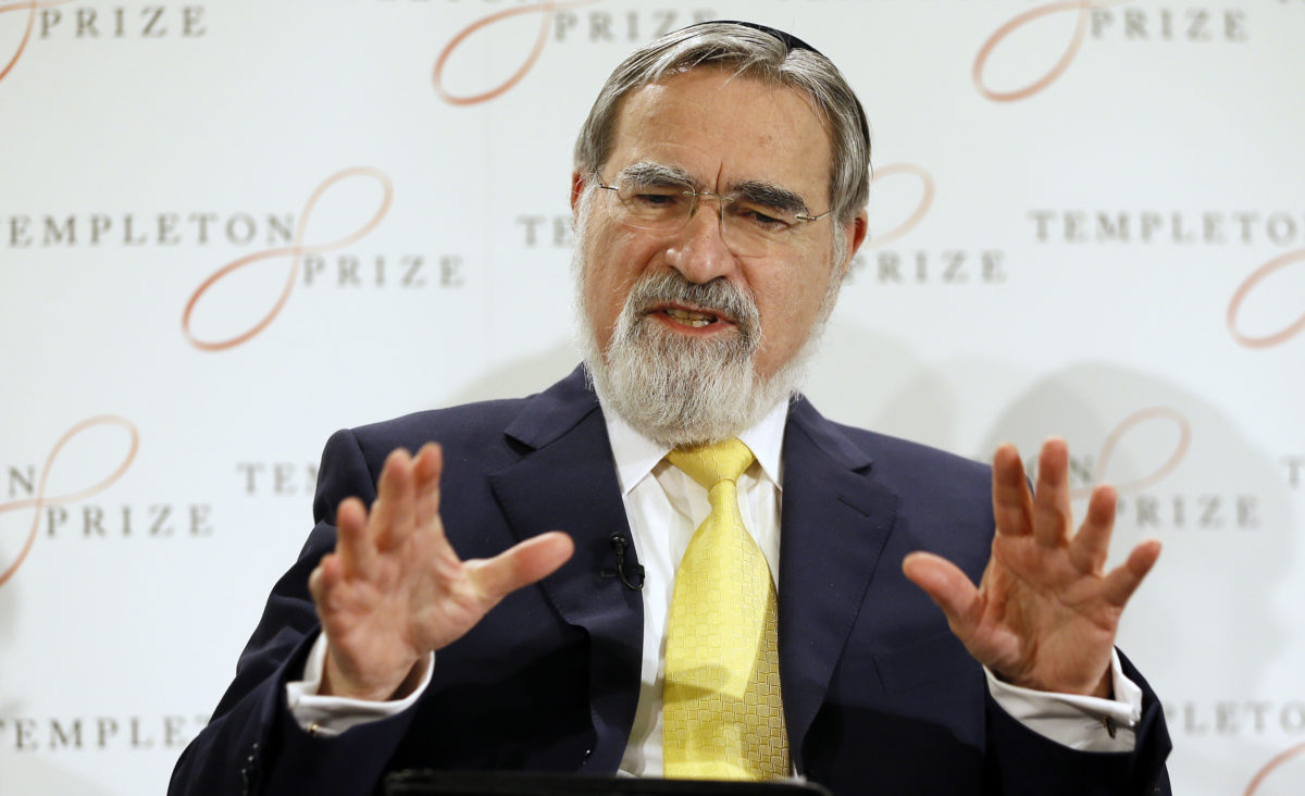Jonathan Sacks speaking