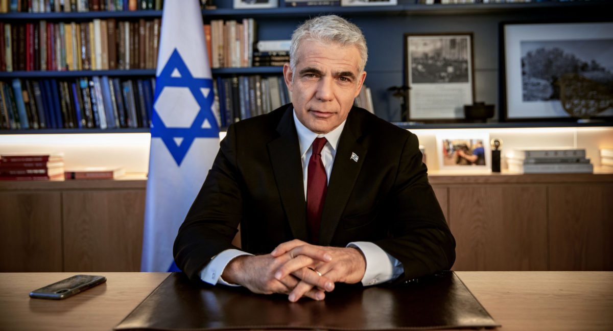 Yair Lapid in office photo