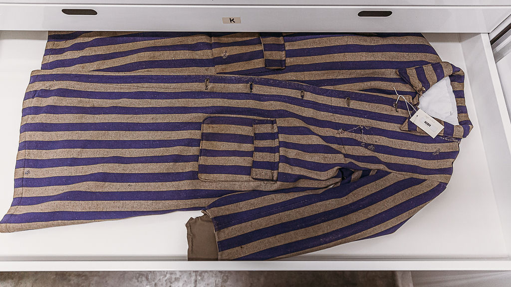 Holocaust artifacts prisoner uniform