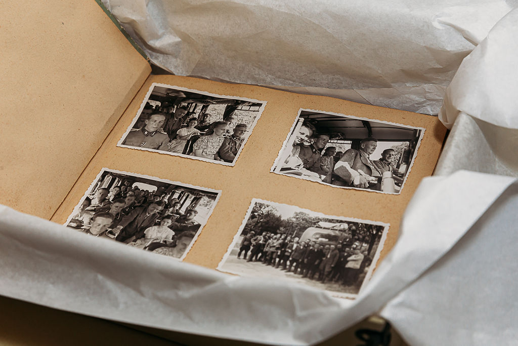 Holocaust artifacts photo album