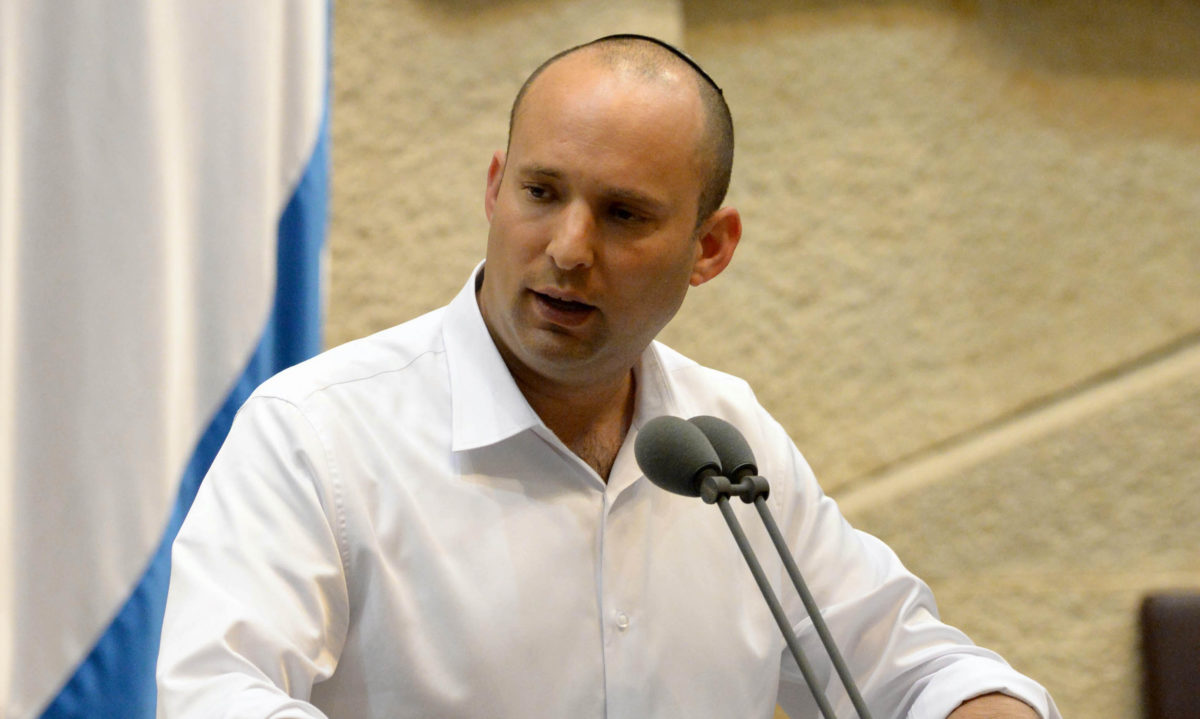 Naftali Bennett speaks to Knesset