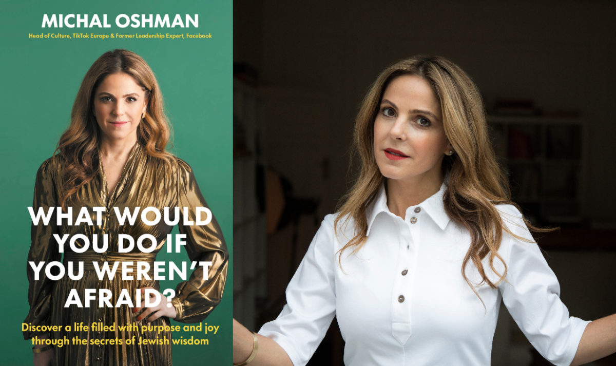 Author Michal Oshman and her new book, 'What Would You Do if You Weren't Afraid?' (Galia Verthime Sherf)