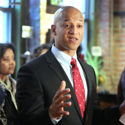 John Barros announces his campaign for mayor of Boston, in a crowded Haley House Bakery Cafe, on Thursday, April 25, 2013. (Photo: Pat Greenhouse/The Boston Globe via Getty Images)